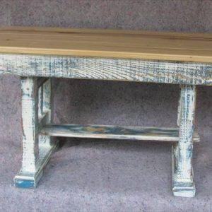 distressed pallet coffee table