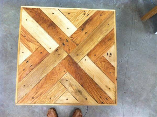 triangle tessellation pallet coffee table