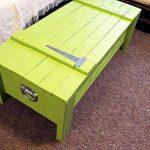 repurposed pallet light green trunk