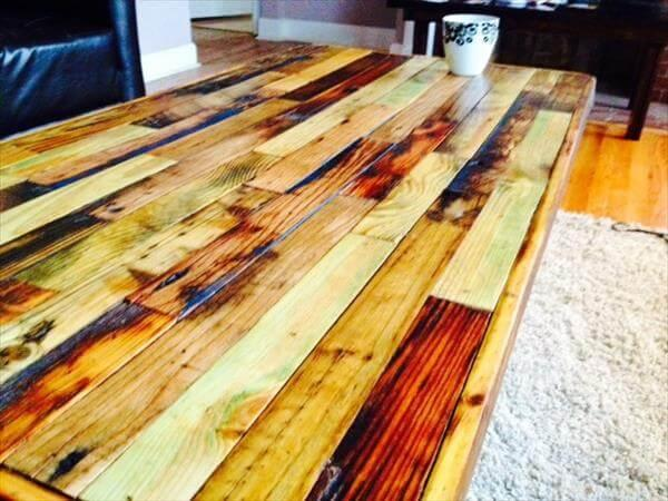 upcycled pallet industrial coffee table