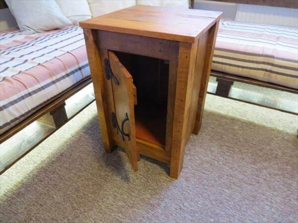 repurposed pallet floor cabinet