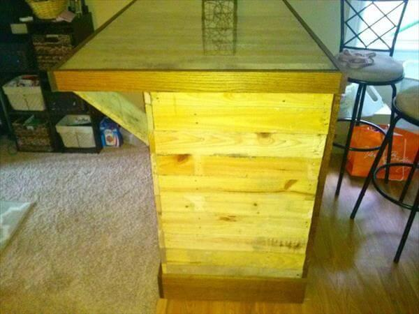 handcrafted pallet island table and desk