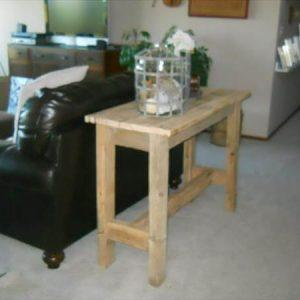 handcrafted pallet sofa side table
