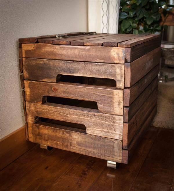 handcrafted pallet wood toy box
