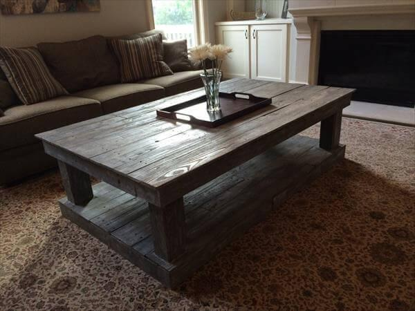 diy pallet oversize coffee table