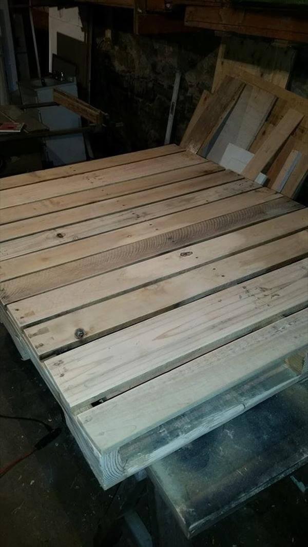 sanding of rustic pallet coffee table