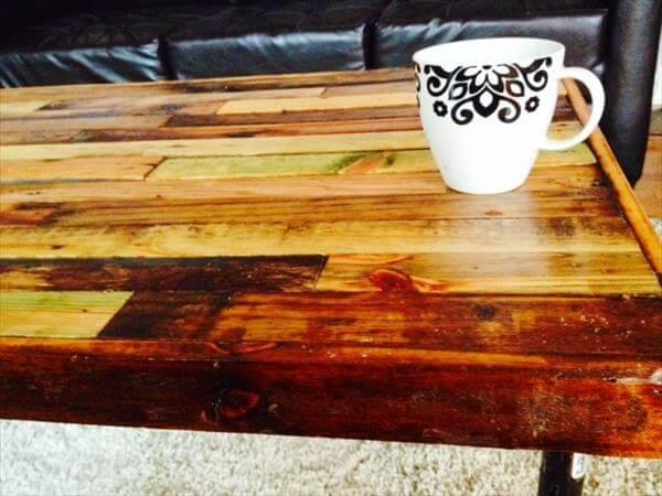 chic pallet industrial coffee table