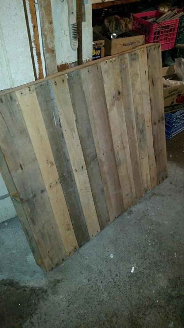 upcycled pallet coffee table top