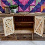 reclaimed pallet dresser with storage