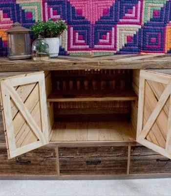 reclaimed pallet dresser with storage