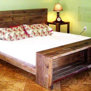 recycled pallet plateform with storage