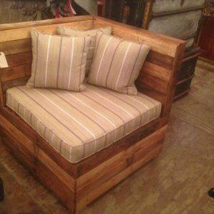 recycled pallet sectional seating unit