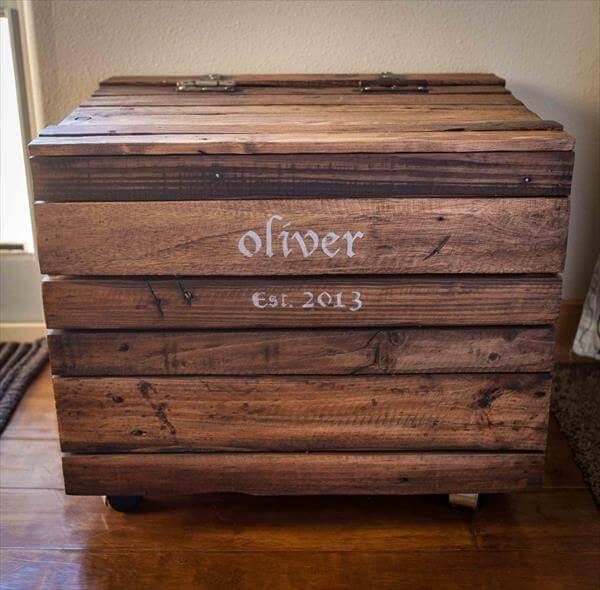recycled pallet toy box