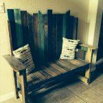 handmade pallet bench