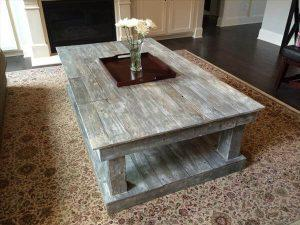 DIY Pallet Over-sized Distressed Coffee Table