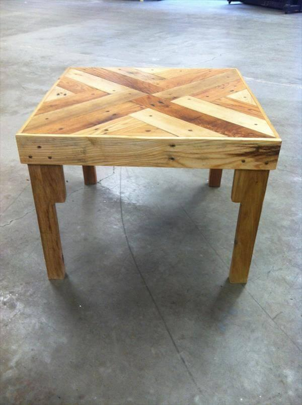 chic pallet patterned top coffee table
