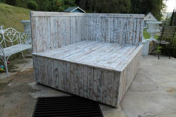 wooden pallet sectional bed
