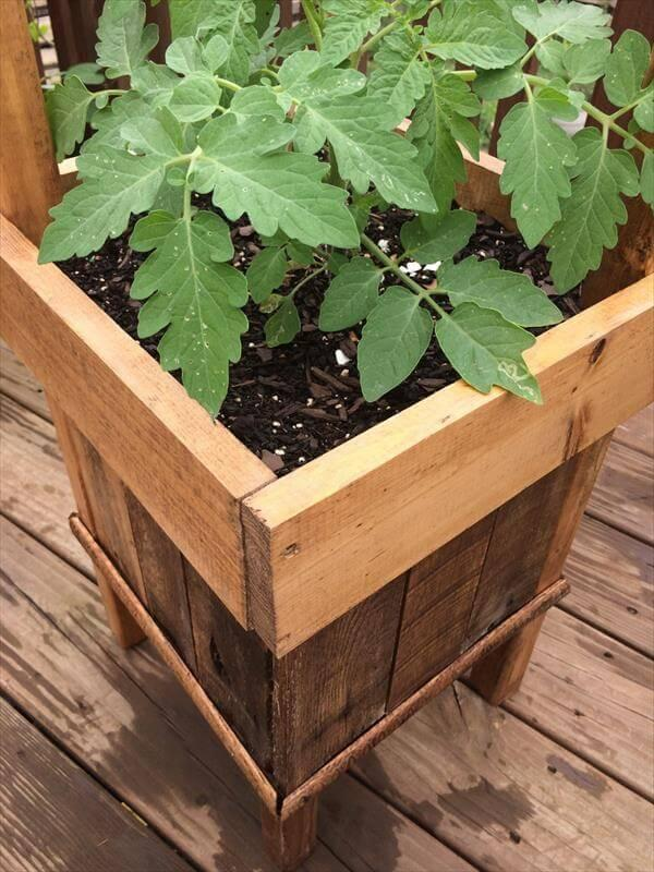 diy pallet handmade pallet raised planter