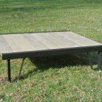 recycled pallet white washed coffee table
