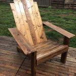 recycled pallet Adirondack chair