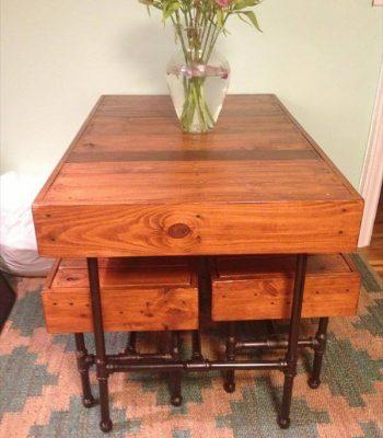 recycled pallet metal dining furniture
