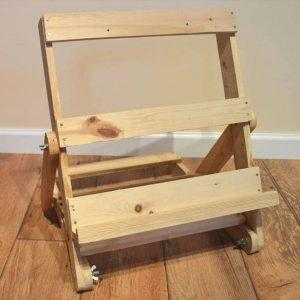 recycled pallet easel and display stand