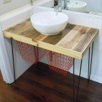 recycled pallet bathroom vanity