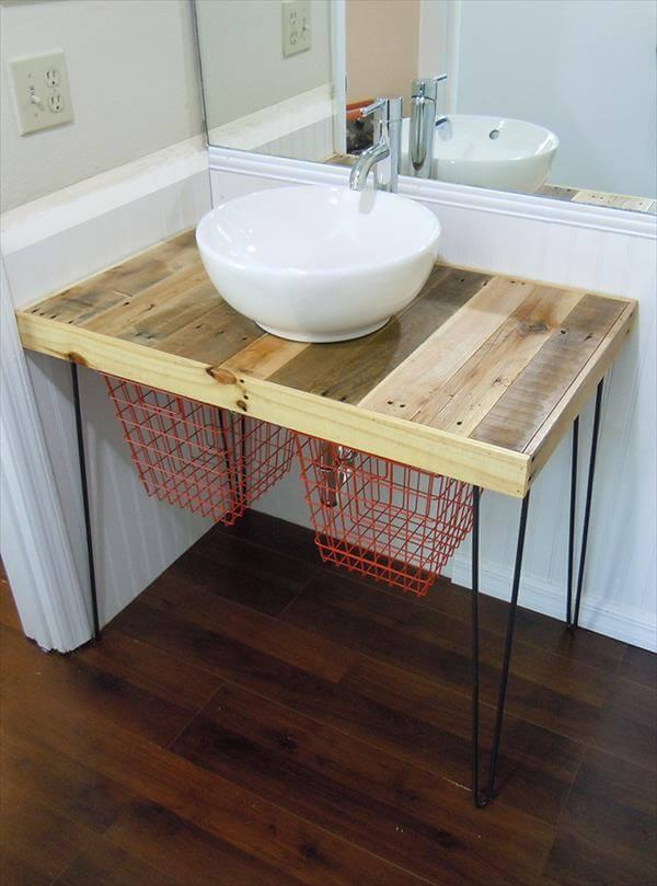 Pallet Kitchen Cabinet With Basin