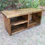 recycled pallet bench with shoes rack