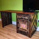 recycled pallet desk for kids