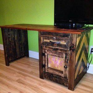 recycled pallet desk for kids