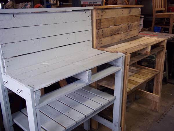 Diy Recycled Pallet Potting Bench 101 Pallets