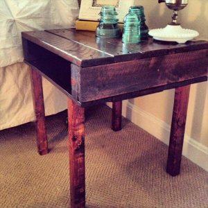DIY Rustic Pallet End Table