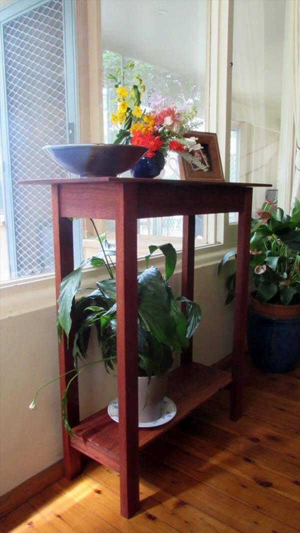 repurposed pallet hall table