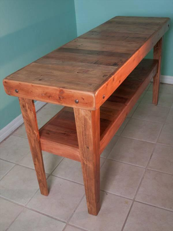 Favorite DIY Reclaimed Pallet Media Console Table – 101 Pallets JH15