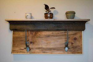 DIY Rustic Pallet Shelf and Coat Rack