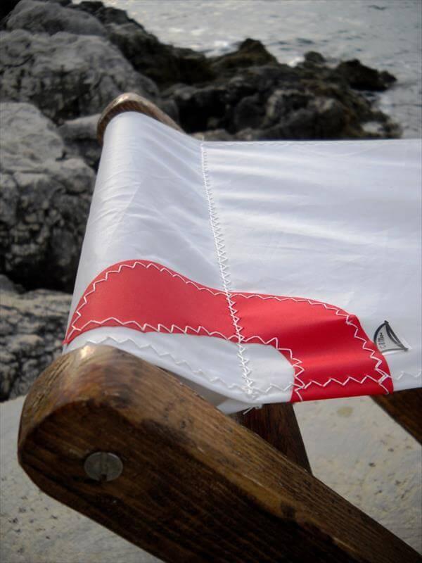 handmade pallet wood sail stool
