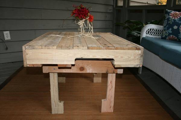 DIY Custom Pallet Wood Coffee Table – 101 Pallets