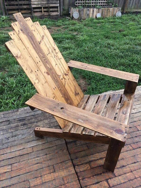 diy sturdy pallet adirondack chair