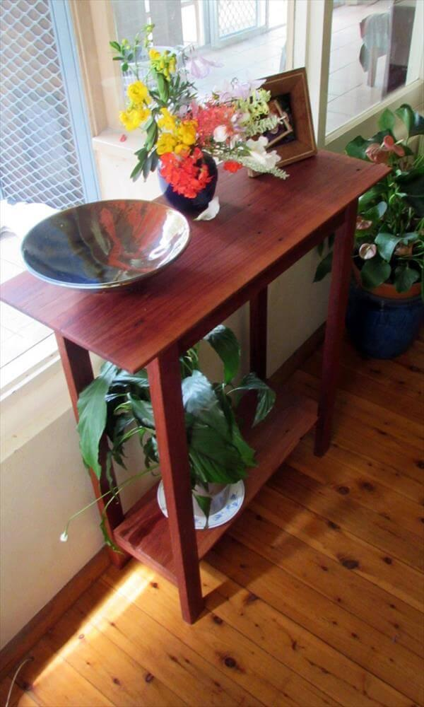DIY Pallet End Table / Hall Table – 101 Pallets