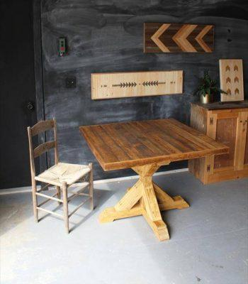 handcrafted pallet dining table