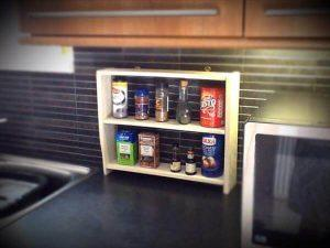 DIY Recycled Pallet Kitchen Spice Rack