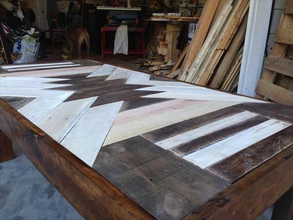handcrafted pallet patterned top coffee table