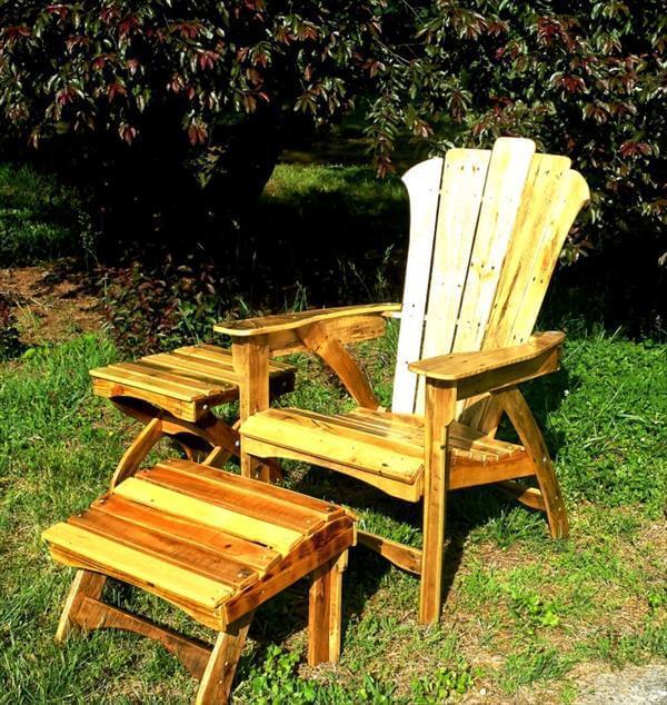 repurposed pallet outdoor adirondack furniture