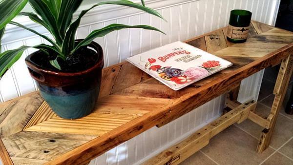 handmade pallet sofa table