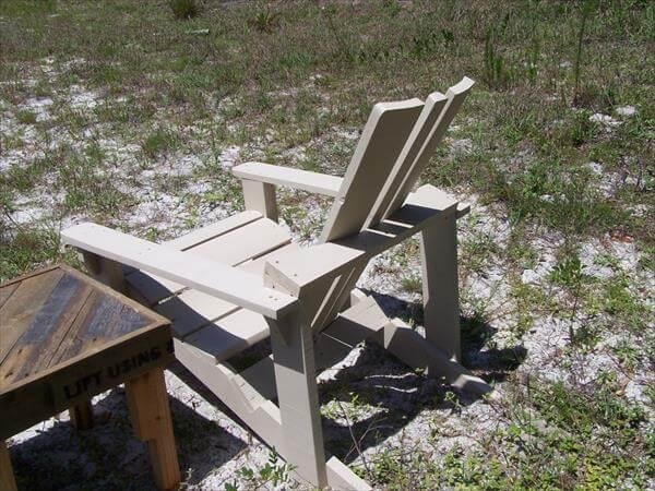 handcrafted pallet and electrical spool adirondack chair