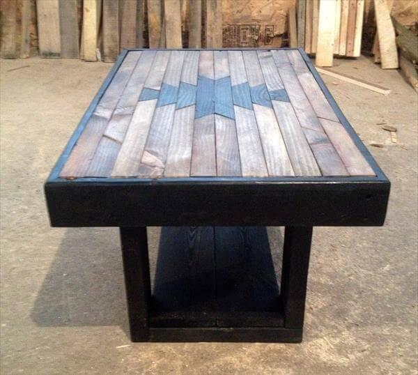 reclaimed pallet navajo patterned coffee table