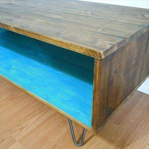 repurposed pallet retro styled coffee table
