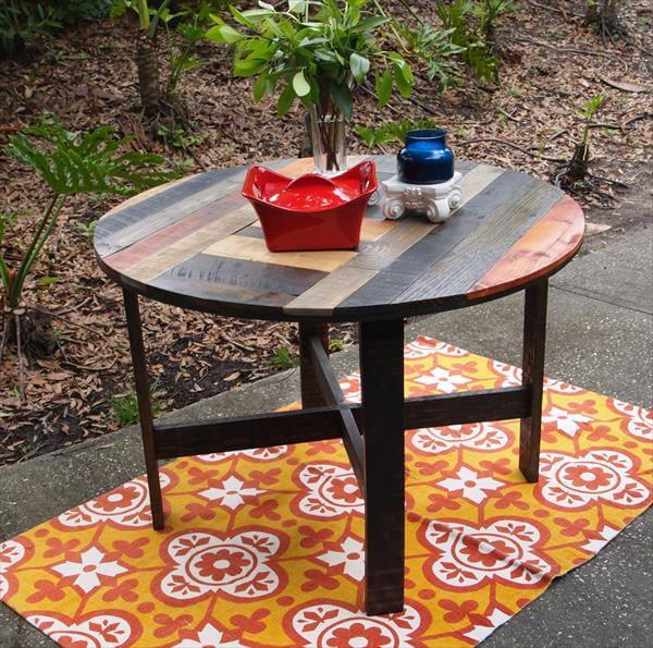 Incredible Diy Pallet Round Dining Table Kitchen Table 101 Pallets Interior Design Ideas Tzicisoteloinfo