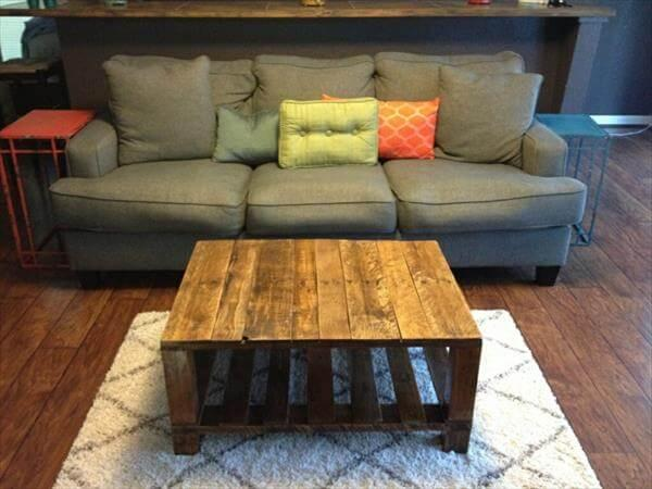 regained pallet coffee table